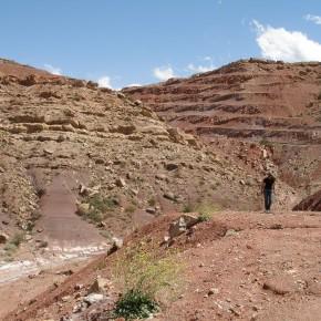 Afloramientos de la secuencia lacustre-fluvial de las formaciones Cacheuta y Río Blanco en la localidad de Potrerillos (Triásico Superior, Cuenca Cuyana, Mendoza)