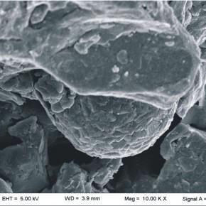 Pirita framboidal en facies microbianas