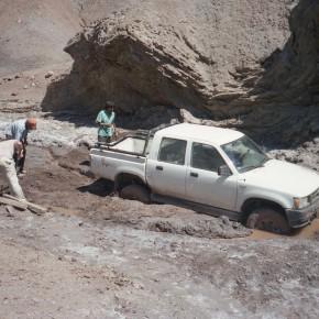 Trabajo de campo en el anticlinal Huitrín, Neuquén.