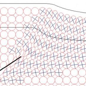Predicción de deformación en un modelo de trishear.