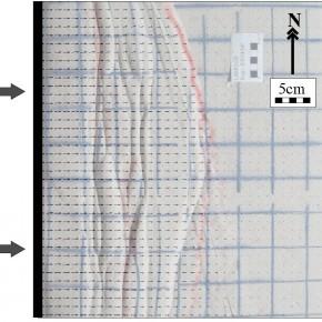 Campos de velocidad calculados con PIV sobre modelo análogo en el LaMoGe.