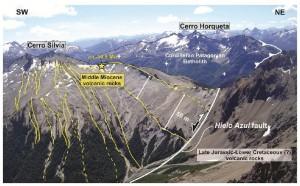 Detalles geológicos del Cerro Silvia.