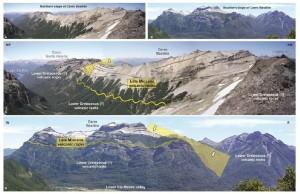 Detalles geológicos del Cerro Bastión.