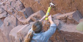 Trabajos de moldeo con silicona de huellas de aves en depósitos de planicie de la Fm. Vinchina (Oligoceno, Cuenca de Vinchina, La Rioja)