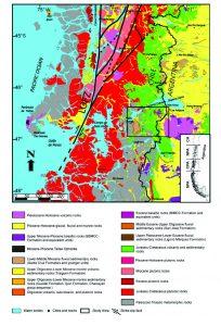 Mapa geológico regional de la comarca estudiada.