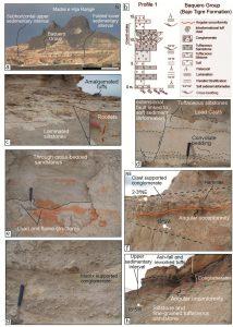Características de la Formación Bajo Tigre en los Cerros Madre e Hija, mostrando discordancias angulares.