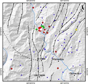 Detalle de los sismos utilizados para calcular el mecanismo focal.