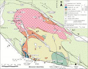 Mapa geológico de las unidades estudiadas.