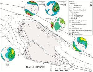 Rasgos estructuralesdel Plutón Ushuaia y sus relaciones con la roca de caja.