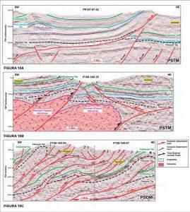 Líneas sísmicas interpretadas de las cuencas de Ene y Pachitea.