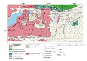 Mapa geológico de detalle del sctor anterior.