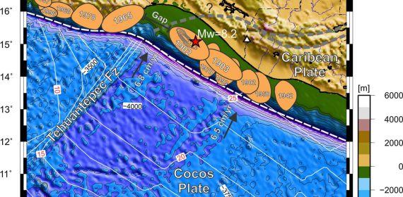 Marco tectónico de la zona de ruptura del terremoto de Chiapas.