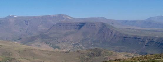 Rocas volcánicas deformadas