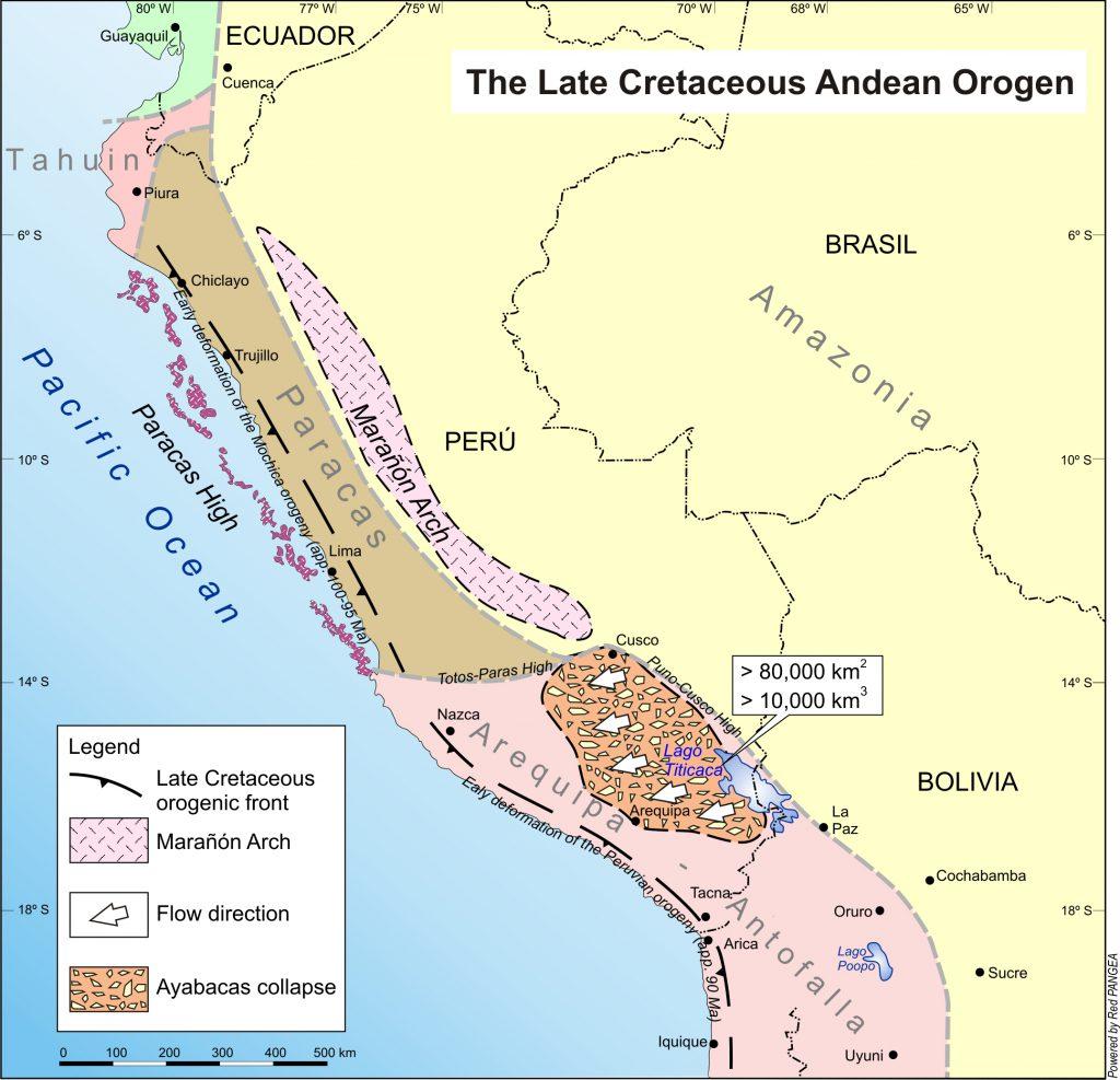 Control estructural del colapso gigante de Ayabacas en el centro de Perú.