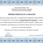 Premio Camacho a la mejor Tesis de Licenciatura en Paleontología – Luciana M. Giachetti