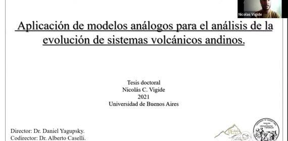 Tesis Doctoral de Nicolás Vigide: aplicación de modelos análogos en sistemas volcánicos andinos